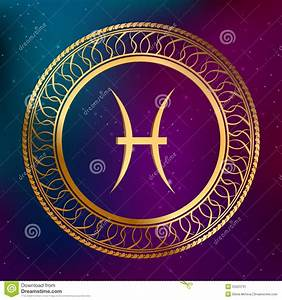 Zodiac Signs Calendar Abstract Background Astrology Concept Gold Horoscope