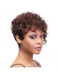 Tempting Auburn Curly Short African American Wigs, Black Hairstyles 2012