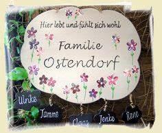 Türschilder Holz Familie : t rschild bl ten herzen t rschilder f r familien ~ Lizthompson.info Haus und Dekorationen