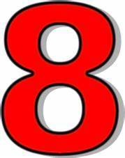 number 8 red - /signs_symbol/alphabets_numbers/outlined ...