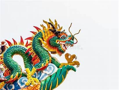 Chinese Statue Dragon Temple Hong Kong China