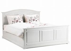 Bett 160x200 Holz : ikea betten 160x200 mit rahmen aus holz f r wei en schlafzimmer bett ideen ~ Indierocktalk.com Haus und Dekorationen
