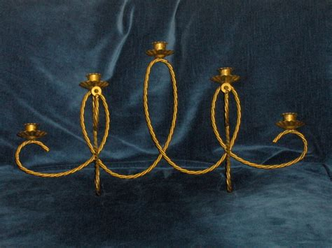 Home Interior 5 Arm Sconce : Home Interiors Wall Sconce Homco Brass Holds 5 Voltives