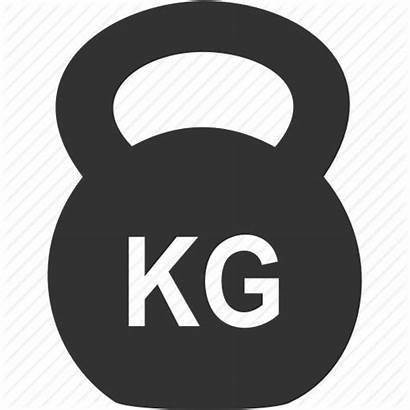 Icon Dumbbell Icons Kettlebell Barbell Fitness Weight