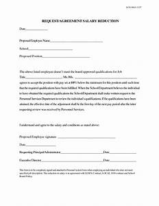 salary reduction letter to employee 10 best images of With wage agreement template