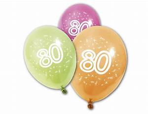 Besinnliches Zum 80 Geburtstag : 8 luftballons 80 geburtstag partydeko und g nstige faschingskost me vegaoo ~ Frokenaadalensverden.com Haus und Dekorationen