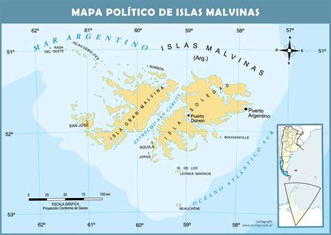 Mapa de las Islas Malvinas Gifex