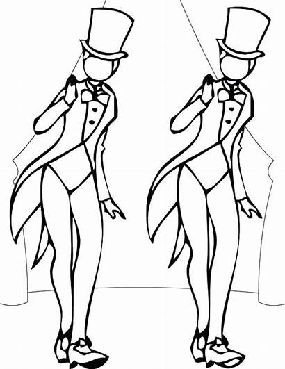 Coloring Dance Pages Tap Dancer Jazz Flamenco