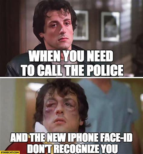 Stallone Meme - face id memes starecat com