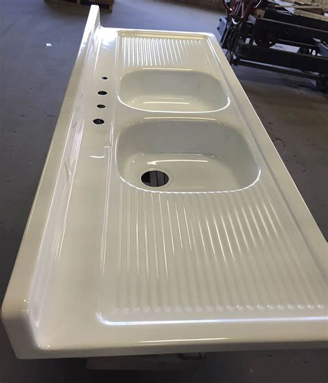 porcelain kitchen sink with drainboard reporcelain refinish steel sinks stoves and other vintage 7541
