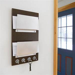 double mail letter holder wood wall mount key interior With letter holder for the wall