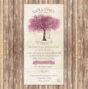 faire part mariage arbre faire part mariage romantique avec arbre en fleur