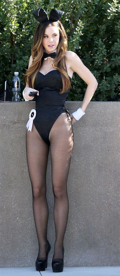 Auburn Bunny Girl wearing Back Sheer Pantyhose and Black Bodysuit | wonderful | Pinterest ...