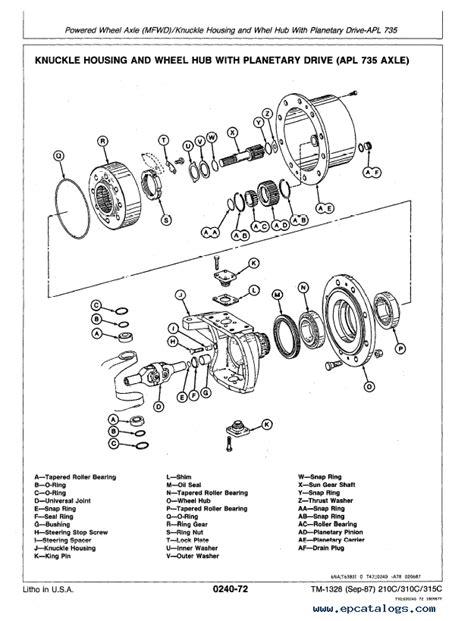 Deere 210c Wiring Diagram by Deere 210c 310c 215c Backhoe Loader Repair Tm1420