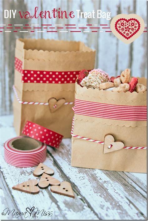 diy treat ideas diy valentine treat bag mama miss