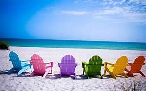 Summer Beach Chairs Desktop Wallpaper