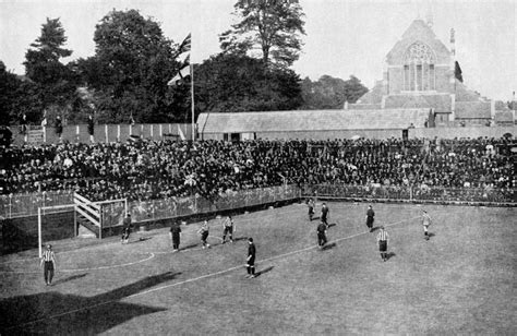 black  white years  fantastic   vintage football stadiums  ate   pies