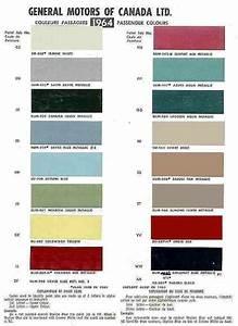 Metallic Car Paint Color Chart 1964 El Camino Color Chart Just El Camino 39 S Pinterest