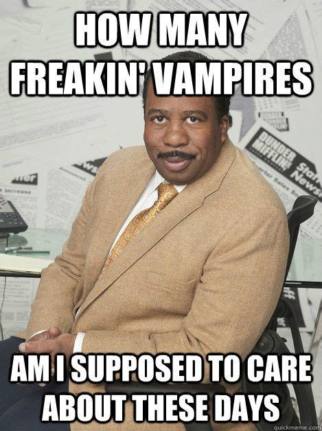 office stanley hudson vampires  office