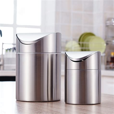 europe style stainless steel trash basket large bedroom
