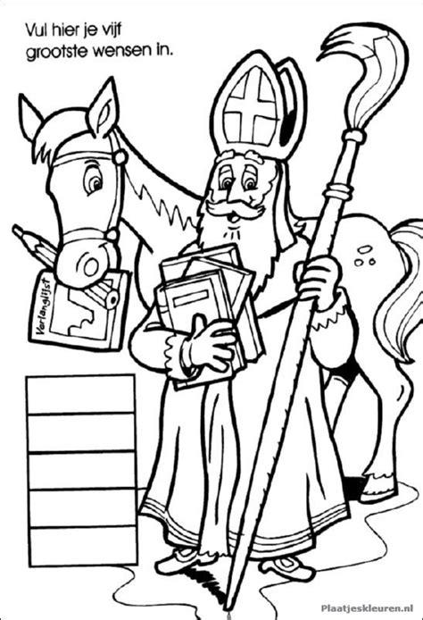 Kleurplaat Muziekpiet by Sint En Paard Sint En Piet Sinterklaas Kleurplaten