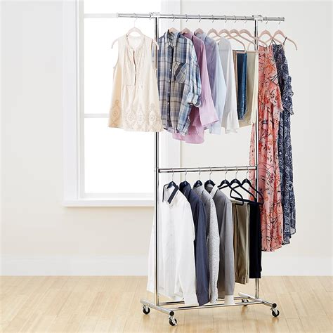 Wardrobe Closet For Hanging Clothes by Clothes Rack Chrome Metal Hang Clothes Rack The