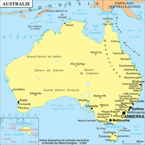 Carte Australie Ville by Carte Grande Villes Australie Carte Grande Villes De L