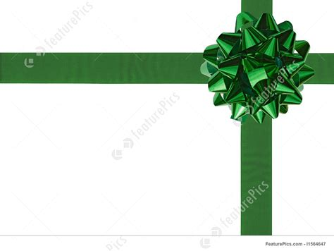 templates green gift wrapping bow  ribbon stock