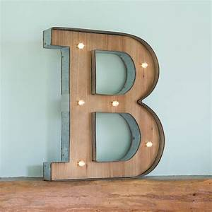 wooden alphabet letter led light by all things brighton With lighted wooden letters