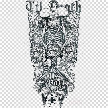 Tattoo Sleeve Clipart Transparent Drawing Clipground Clip