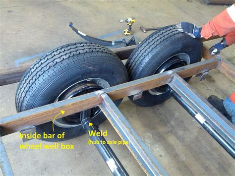 Boat Trailer Single Axle Alignment by Welding Jess And Tim S Tiny House