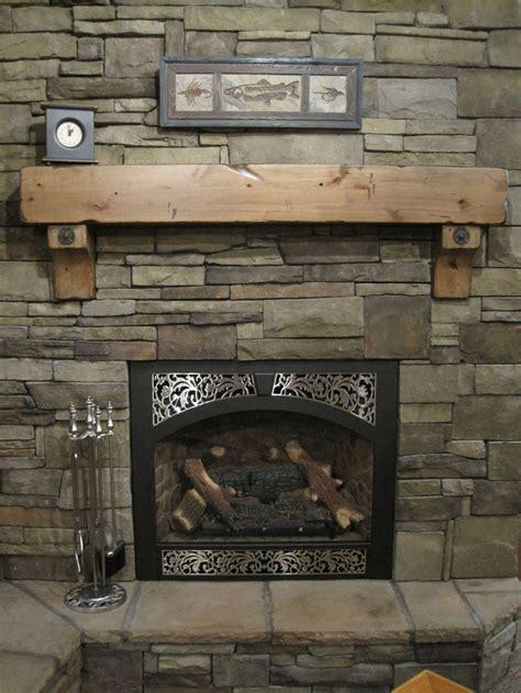 rustic fireplace mantel shelf corbels antique bolts