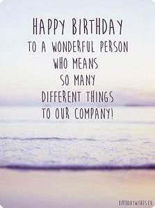 Job Goals Happy Birthday Employee Birthday Wishes For Employees