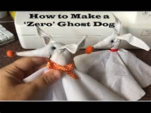halloween craft tutorial how to make zero from the nightmare before christmas youtube