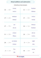 mixed addition  subtraction basic division  times
