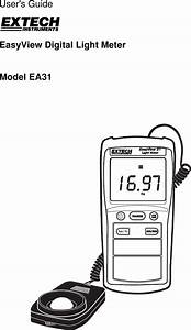 Extech Instruments Easy View Digital Light Meter Ea31