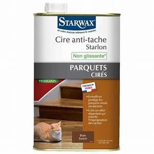 cire anti tache starlon starwax liquide 1 l bois fonce With tache huile parquet