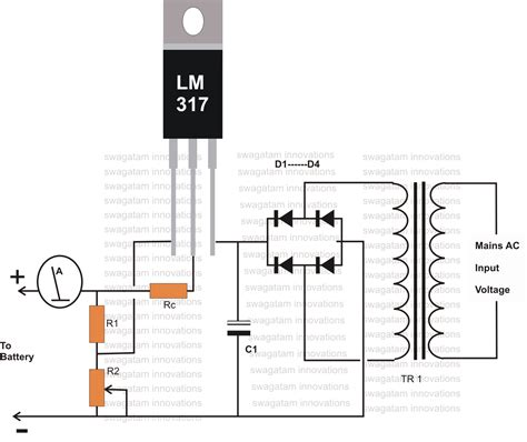 volt battery charger diagram electronic pinterest