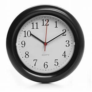 Wilko round wall clock black at wilkocom for Round wall clocks black
