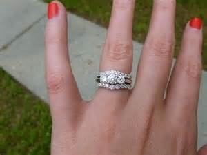 stacked wedding rings set http boards weddingbee topic show me your three rings page 2 wedding ideas