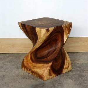 End Table Big Twist natural wood furniture grey oak walnut