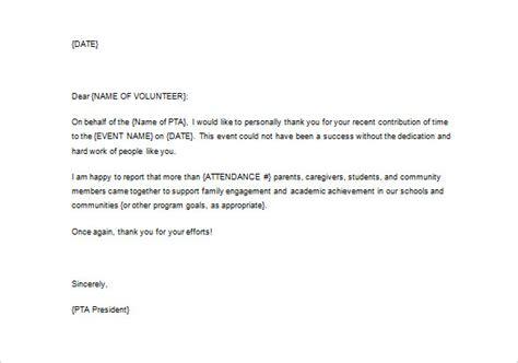 volunteer appreciation letter sle fotolip rich