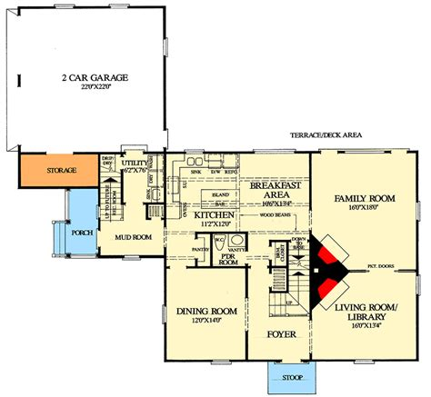 saltbox style historical house plan wp architectural designs house plans