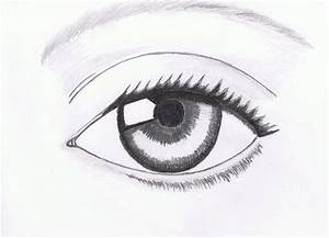 human eye drawing easy source | liked | Pinterest | Human ...