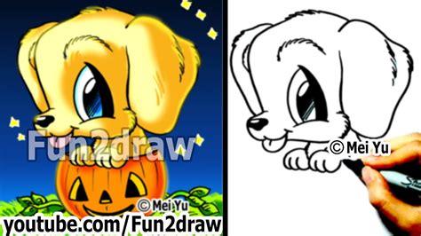 golden retriever puppy   draw  dog  halloween