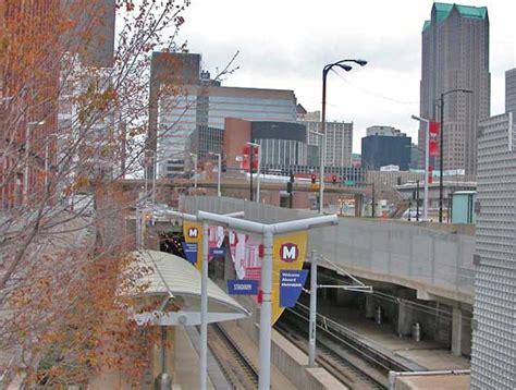 st louis light rail downtown view