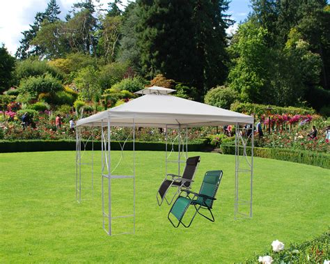 3mx3m metal gazebo with side curtains weather proof 4 side