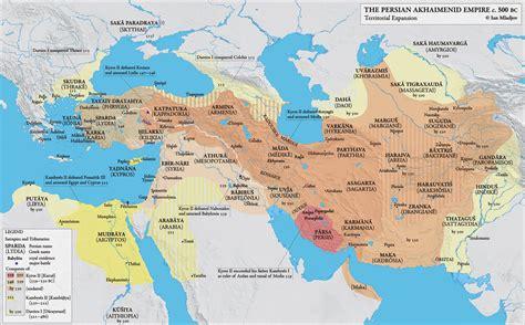 Persian Empire Map 500 BC