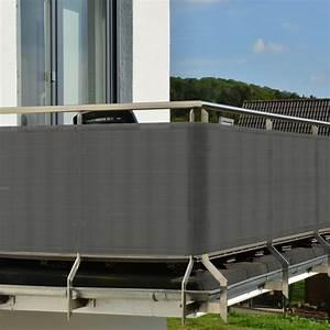 balkon sichtschutz diverse hohen farben hier kaufen With französischer balkon mit rattanmöbel garten grau