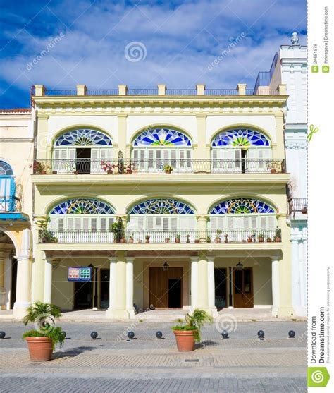 Colorful Colonial by Colorful Colonial Building In Stock Photo Image